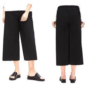 Eileen Fisher Lagenlook Cotton Pants Wide Leg Crop